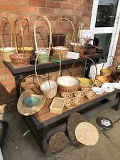 Job Lot Vintage Bundle of Baskets, Trays, Book, Crafts, Flower Arrangement