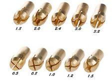 Dremel accessories-  10x Drill Chucks Collet 4.3mm 0.8-3.2mm