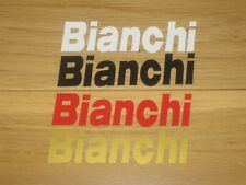 2 Bianchi Printed Stickers Cycling Frame Forks Box Decals bike Eroica Vintage A