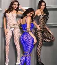 sexy silk BODYSTOCKING Babydoll suspender Dress bodysuit Lingerie Underwear