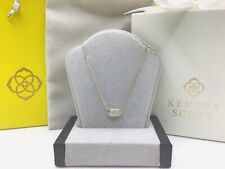 WOW! 14K Yellow GOLD Kendra Scott LISA NECKLACE set With DIAMONDS