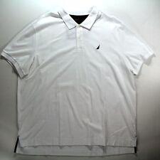 Nautica Polo/Rugby Shirt White Short Sleeve Interlock Men's Size 3XL $59.5 NEW
