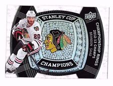2013-14 Black Diamond Stanley Cup Champs Championship Rings Brandon Saad