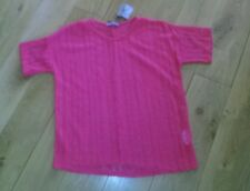 Ladies lacy knit coral short sleeve jumper size 14 BNWT