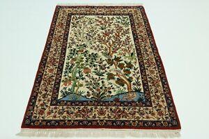 Isfahani Fine 900.000, Kn / Qm On Silk Persian Carpet Oriental Rug 1,75 X 1,08