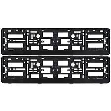 2x Nero NUMERO TARGA CIRCONDA Holder Frame per qualsiasi auto AUDI A3 A4 A5 A6