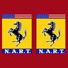 Ferrari NART Wing 2 Decal, Vinyl Sticker Pair