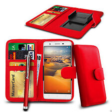 Clip On PU Leather Wallet Case Cover & Pen For ZTE Open L