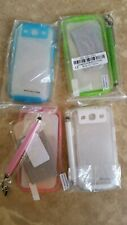 Lot of 4 Cases for Samsung Galaxy SIII S3 w/ Stylus, screen protector & cloth