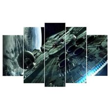 5 piece canvas art Printed millennium falcon star wars Painting Canvas decor