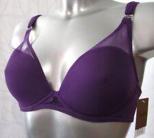 SOUTIEN-GORGE 85E 85 E tulle violet coque mousse CHANTELLE 1526 femme NEUF