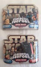 STAR WARS GALACTIC HEROES NEW Princess Leia Luke Skywalker Darth Vader 2004