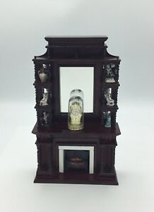 Dolls House Tall Fireplace With Ornaments