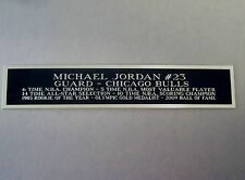 Michael Jordan Bulls Nameplate For A Basketball Jersey Case Or Photo 1.5X8