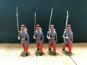 Britains: From RARE EARLY Set 141 - French Infantry. First Version c1905