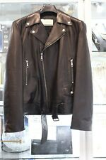 Gucci Leather Biker Jacket Size 48