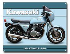KAWASAKI 1978 KZ1000 Z1-R D1 METAL SIGN A3. MOTORCYCLES