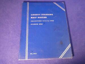 Liberty Standing Half Dollar Album 1916 - 1936  (14 Coins - Incomplete Album)