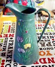 Ancien Arrosoir Broc bouquet de fleurs Champs Jardin Vase cruche Pichet old jug