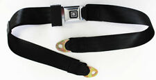 "Black seat belts GM logo Metal Buckle 60"" Long price is each Firebird GTO Nova"