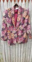 "Women""s Jacket Vintage Spring Summer Coat Retro Casual Corner Flower 12 Blemish"