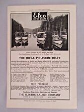 Elco Motor Boat PRINT AD - 1908 ~ Electric Launch Co.