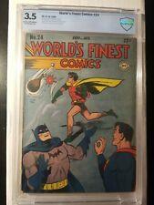 WORLDS FINEST # 24 CBCS 3.5 KEY DC GOLDEN AGE SUPERMAN/BATMAN COMIC-LIKE CGC,PGX