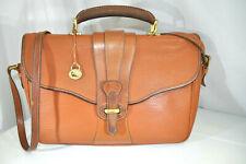 Dooney & Bourke Vintage USA Leather Legal Briefcase Satchel Saddle Flap AWL Bag
