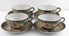 Set of 4 Tea Cup and Saucer Sets Dragonware Gray Dragons H Japan Mark GOOD COND