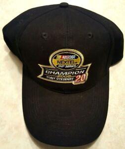 TONY STEWART Hat 2005 Nextel Racing Nascar Champion Adjustable Cap Black New
