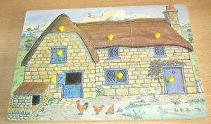 Wooden FARMHOUSE Playtray Jigsaw Puzzle by ROBERT LONGSTAFF