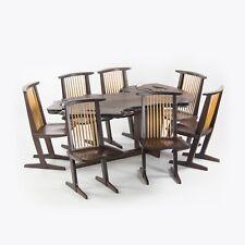 Ru Amagasu Nakashima Set of 7 Conoid Chairs & Holtz Dining Table Wenge & Redwood