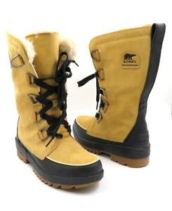 SOREL Size 9 Beige Tan TIVOLI IV Waterproof Tall Boots Faux Fur Lined