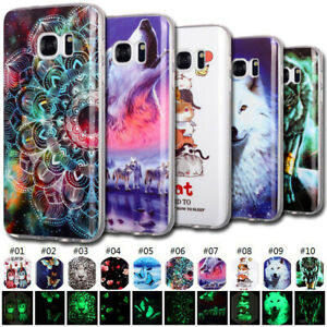 Luminous Glow In The Dark Gel Rubber Case Cover For Samsung Galaxy S5 S6 S7 edge