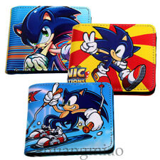 Game Sonic The Hedgehog Wallet Billfold PU Leather Card Holders Purse