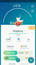 Pokemon Go account Level 30 - 600K stardust  - magikarp Candies