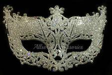 Veneciana De Filigrana De Plata Masquerade Ball Máscara Fiesta De Disfraces De Navidad