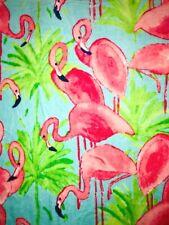 Cynthia Rowley Plush *PINK FLAMINGOS* Beach Towel  40X70