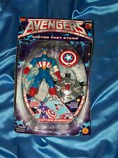 "CAPTAIN AMERICA:AVENGERS:UNITED THEY STAND, 5.5"" TOY BIZ, 1999, ACTION SHIELD!"