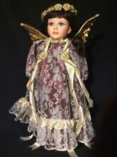 "Vintage Seymour Mann Porcelain Doll 16"" Angela Connoisseur Collection in Box"