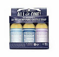 DR. BRONNER'S~BABY + PEPPERMINT + LAVENDER PURE-CASTILE SOAP GIFT SET~3 x 2FL OZ