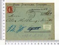 A8169) Suisse Cover 4.12.1906 Ersigen Lyss Ersigen 6.12.1906