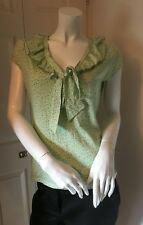 Laura Ashley Floral print Short sleeve Top UK 14