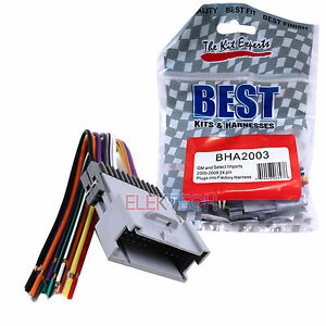 BHA2003 Aftermarket Radio Replacement 24-Pin Wire Harness for Chevrolet GMC Kia