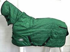 1200D GREEN QUILTED 300G WINTER STABLE HORSE COMBO RUG - 6' 0 clearance sale!!!