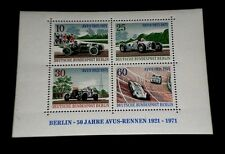 GERMANY, 1997, RACE CARS, SOUVENIR SHEET, MNH, NICE! LQQK!