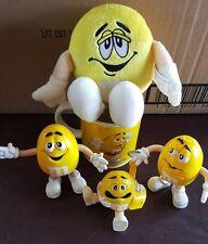 M&M's Yellow Guy Ceramic Mug, Plush Toy, BK toy, Key Chain, & Classic Toy