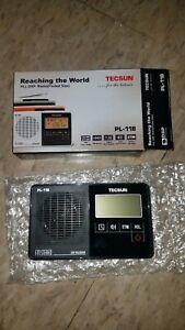 Tecsun PL-118 Pocket Sized PLL DSP FM Radio with ETM (COLOR BLACK)