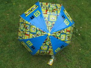 SPONGEBOB Bubble Umbrella / ANTI-PINCH/ WIPE CLEAN MATERIAL
