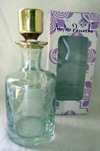 MoMo Panache Mouthblown BOUQUET Green Perfume Bottle with Stopper NEW NIB